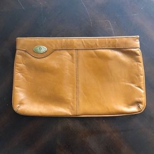 Vintage Italian Leather Clutch